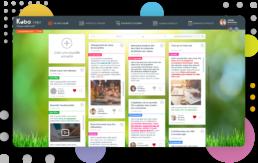 Visuel de l'espace collaboratif pour collectivités - fil d'actualité